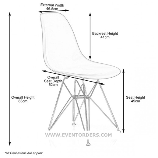 white eames chair event orders