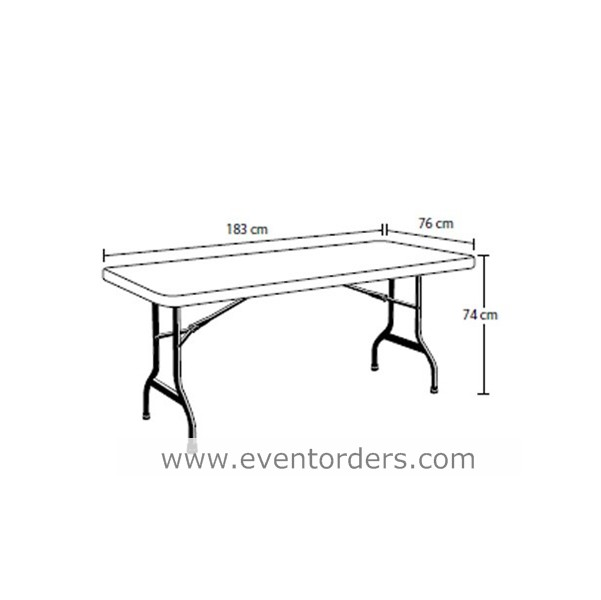 trestle table white 6ft 1830mm long a event orders